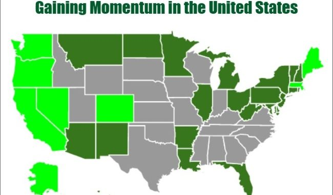 Legalization of Recreational Pot Gaining Momentum in the United ...