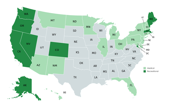 Every State Could Legalize Marijuana by 2021